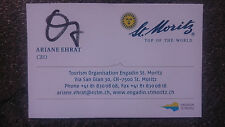 Carte de Visite M. Orig. AG Ariane EHRAT Sui SKI ALPIN 2.wm 85-départ oiseau rare.