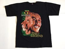 Bob Marley The Legend Lion King Men's L Large Black Crewneck Tee Tshirt