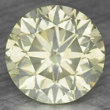 1.36 Cts UNTREATED NATURAL FANCY GREENISH YELLOW COLOR DIAMOND VS2