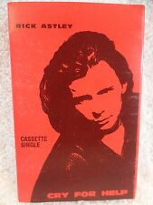 Rick Astley Cry For Help And Behind The Smile Vintage Cassette Tape Single