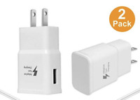 2-Pack Fast Charger Adapter USB Home Wall Outlet For Apple iPhone 8 7 Plus XS XR