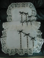 IVORY & BLACK DOLLS PRAM SET..IDEAL FOR SILVER CROSS COACH BUILT PRAMS