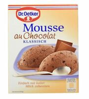 4 x DR OETKER MOUSSE AU CHOCOLAT DESSERT SWEET CREAM !!! FOOD FROM GERMANY