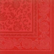 50 Motiv Servietten ROYAL Papstar Rot Stoffähnlich Premium 1/4-Falz 40 cm