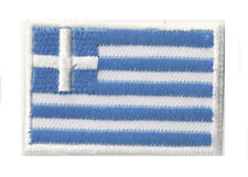 Écusson patch petit patche Grèce drapeau pays 45x30 mm badge thermocollant