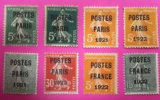 FRANCE TIMBRES PRÉOBLITÉRÉS N°24,26,27,28,30,32,36,37 GROSSE COTE N°4