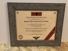 ARMY SUPERIOR UNIT COMMEMORATIVE AWARD CERTIFICATE ~ Type 1