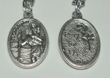 """St Christopher Holy Medal on 24"""" Chain - Travellers, Drivers, Gardeners, Storms"""