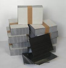 EINSTECKKARTEN STECKKARTEN mit Folie A6 4 Streifen 500 Stück schwarzer Karton