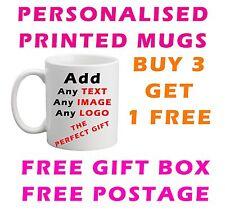 Personalised printed Mugs printed photo, text, logo or Name tea/ coffee Mug