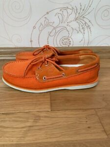 Timberland  Classic  Orange Lug Topsider Men's Shoes Size US 9W EU 43