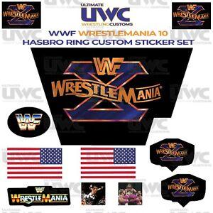 WWF Hasbro Ring WrestleMania 10 Custom/Replacement Sticker Set