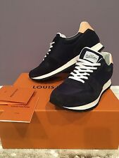 Louis Vuitton Abbesses Sneaker Mens Size US 9.5 100% Authentic, Rare Navy Color