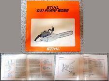 Manuale manual uso manutenzione-Handbuch Wartungsanleitung-STIHL 041FB Farm Boss