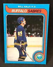 1979-80 TOPPS HOCKEY BILL HAJT CARD #221 BUFFALO SABRES NMT-NMT/MT