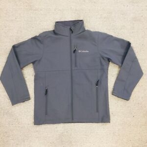 Columbia Sportswear Company Grey Mens Medium Soft Shell Jacket Fleece Lining