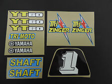 1984-1985 YT60 TRI-ZINGER Complete Graphics Kit Decal Stickers ATC