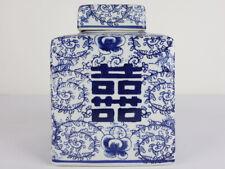 Chinesische Porzellan Deckelvase Doppeltes Glück #P-VAS-P032