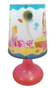 Pink Poppy Mermaid Under the Sea Color Changing Cordless Lamp, New w/ Defect