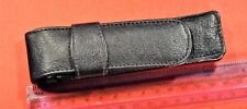 Black Pouch / Genuine Soft leather case for one or two pens