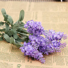 10 Heads Silk Artificial Lavender Fake Flowers Garden Plant Bouquet Home Decor