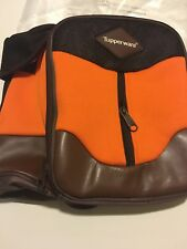 Tupperware Insulated Lunch Bag - Brown and Orange
