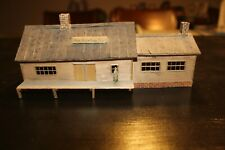 HO scale little manufacturing building with dock