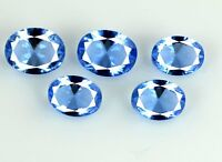Blue Tanzanite Loose Gemstone Lot 5.55 Ct/5Pcs Natural Oval Cut AGSL Certified