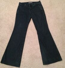 J Brand Seline Trouser Bell Bottom Obsidian Wash Stretch Jeans Sz 28 32x34