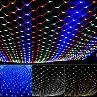 3M 6M LED String Fairy Lights Net Mesh Curtain Holiday Party Wedding Decoratio