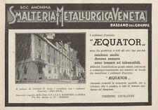 Z1090 Radiatori AEQUATOR - Palazzo Giustizia di Aosta - Pubblicità - 1934 Ad