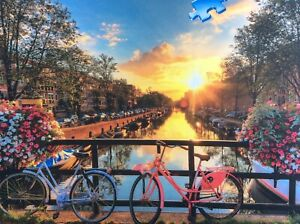 BICYCLES IN AMSTERDAM 1000 PIECE RAVENSBURGER JIGSAW USED