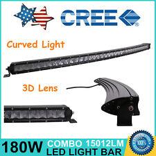 "37"" 180W CREE LED BAR CURVED SLIM SINGLE ROW OFF ROAD JEEP LIGHT BAR WORK LAMP"