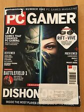 PC GamerMagazine August 2016 Dishonored 2, Battlefield 1, Mafia 3, Furi