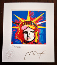 """PETER MAX """"Liberty Head I"""" Hand Signed and Numbered Lithograph with Studio Seal."""