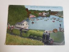 Vintage Colour Postcard BOATING POOL+MINIATURE RAILWAY SCARBOROUGH Franked 1958