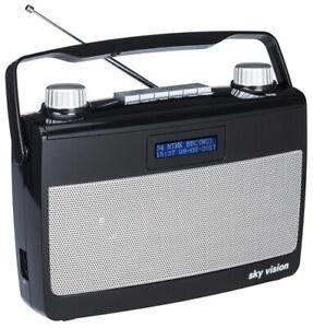 DAB+ Radio sky vision DAB 7 S   Kofferradio   Digitalradio   tragbar   schwarz