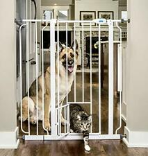 Carlson Extra Tall Walk Through Pet Gate with Small Pet Door Dog Cat
