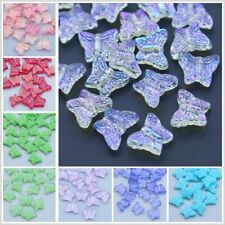 CHOOSE COLOR! 50Pcs 15mm Czech Lampwork Glass Butterfly Pressed Beads HH6622