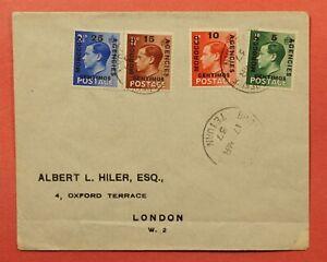 DR WHO 1937 GB MOROCCO AGENCIES FDC OVERPRINT TETUAN TO LONDON  184128