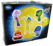 DISNEY STORE INSIDE OUT PUZZLE SET 5 in 1 Anger Joy Sadness Fear Disgust