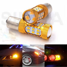 2pcs Amber 1156 7506 1156A 27-SMD BA15S LED Turn Signal Lights Reverse Lights