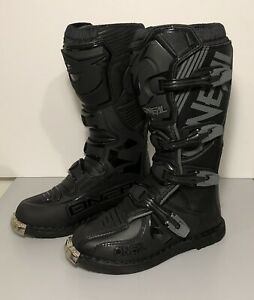 O'Neal Element Motocross Boots Off-Road MX Black Size 8 US / 41 EU Barely Worn!