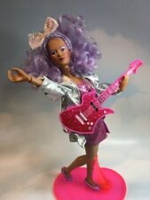 Jem & the Holograms SHANA doll, Stand, Clothes, Comb Accessories vintage Hasbro
