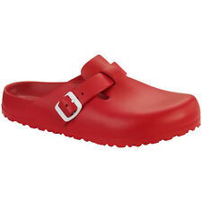 Birkenstock Boston EVA Clogs Pantoletten Sandale red 127123 Weite schmal Clog