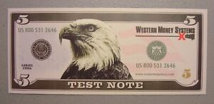 2006 Western Money Systems 5 Unit Test Note Choice Uncirculated