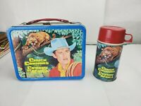 """Vintage 1968 """"Cowboy in Africa"""" Metal Lunch Box & Thermos"""