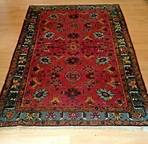 Vintage Shabby Chic Old Distressed Oriental Rug (6.88ft X 4.62ft)