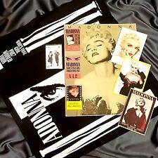 MADONNA WHO'S THAT GIRL TOUR PROGRAM 1987 & AFTER SHOW PASS/BANDANA & CARDS LOT