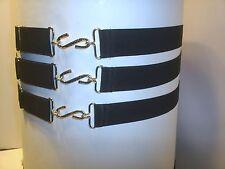£2.99 each  adults budget  elastic snake belt black multi fit  30 ml wide